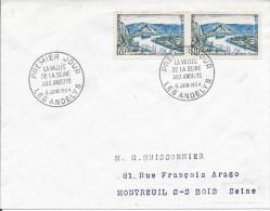 1ER JOUR D'EMISSION FRANCE  -  1954  -  LA VALLEE DE LA SEINE   -  LES ANDELYS - Temporary Postmarks