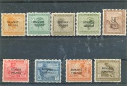1924 RUANDA URUNDI Y & T N� 50 � 58  ( * ) Neufs avec traces de charni�re.