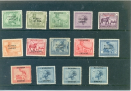 1925 RUANDA URUNDI Y & T N� 62 � 75  ( * ) Neufs avec traces de charni�re sauf 71 ( o )