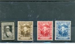 1934 1936 RUANDA - URUNDI Y & T N� 107 108 109 110 ( * ) Traces de charni�res.