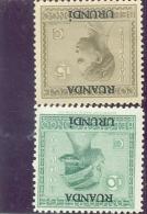 1929 RUANDA - URUNDI Y & T N� 79 et 80 ( * ) Traces de charni�res.