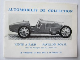 PUBLICITÉ AUTOMOBILE VENTE PARIS BOIS DE BOULOGNE PAVILLON ROYAL DELAGE BUGATTI ROLLS ROYCE BENTLEY PORSCHE FERRARI - Publicités