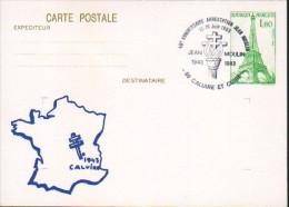 Entier-postal- Arrestation De Jean Moulin - Postal Stamped Stationery