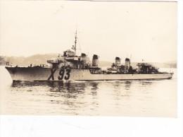 photo  batiment militaire escorteur escadre Kersaint 1942 coque   X 93