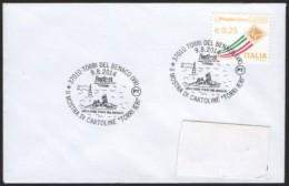 "ROWING - ITALIA TORRI DEL BENACO (VR) 2014 - MOSTRA DI CARTOLINE ""TORRI IERI"" - LEGA BISSE - SMALL SIZE COVER - Canottaggio"
