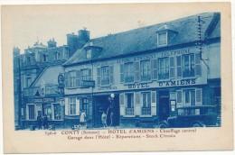 CONTY -  Hotel D'Amiens - Garage Central, Pompe à Essence - Conty
