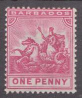Barbados, 1892, SG 107, Mint Hinged (Wmk  Crown CA) - Barbades (...-1966)