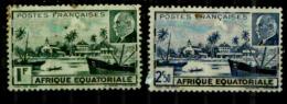 A.E.F.  Y&T N°90.91.oblitérés - A.E.F. (1936-1958)