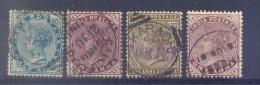 Indie - 1882 - Yv. 33 + 35 + 36 + 38 - Gestempeld - Indien