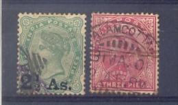 Indie - 1891 - 1898  - Yv. 45/46 - Gestempeld - Indien