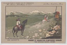 Cpa Don Quichotte - Don Quijote - Publicité Poudre Et Cigarettes D´Abyssinie Exibard - Moulin à Vent - Wind Mill - Célébrités