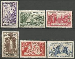 MAURITANIE  EXPO 1937 N� 66/71 NEUF* TTB