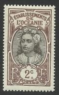 French Oceania, 2 C. 1913, Sc # 22, Mi # 25, MH. - Ungebraucht