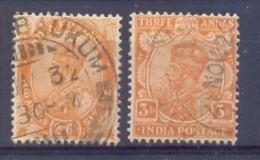 Indie - 1911 - 1926 - Yv. 84A + 85 - Gestempeld - Indien