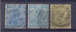 Indie - 1911 - 1926 - Yv. 86  X2+ 87  - Gestempeld - Indien
