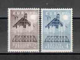 Belgien / Belgium / Belgique 1957 EUROPA Satz/set ** - 1957