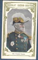 Chromo Chocolat Guerin-Boutron 2e Livre D´or Célébrités Contemporaines 552 Général Brault WW1 Fort De Douaumont - Guerin Boutron