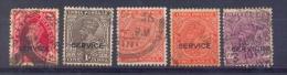 Indie - 1937 - 1943 - Yv.  56/79/81 X2 + 87 - Service - Gestempeld - Indien