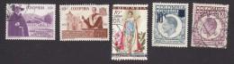 Colombia, Scott #695-699, Used, Father Rafael Almanza, Msgr. Carrasquilla, Miss Universe, Gaitan, Issued 1958-59 - Colombia