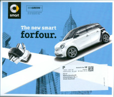 BRD Germering Infopost GoGreen 2014 The New Smart Auto Infocenter Hochhäuser New York - Automobili