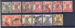 Indie - 1939 - 1943 -  Yv. 161/6 + 164 + 167 + 170  + 172 + 178 - Gestempeld - Ohne Zuordnung