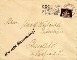 Olympic Games > Summer 1936: Berlin,machine Postmark,flame,Germany,cover,letter - Sommer 1936: Berlin