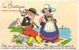 LA BRETAGNE DIEU ME PARDONNE DESSIN 2  ENFANTS - Bretagne
