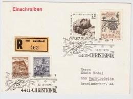 Österreich, Christkindl, 12.12.70, Reco-Brief   , S523 - 1961-70 Briefe U. Dokumente