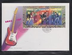 ROXETTE MUSIC ROCK MUSIK MUSIQUE MUSICA POP POPMUSIK - SWEDEN  SUEDE SCHWEDEN 1991 MI 1685 - 1687 FDC SWEDISH ROCK STARS - Music