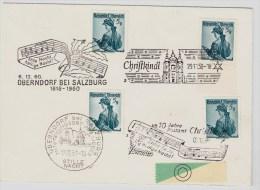 Österreich, Christkindl-Stp.  1958, 1959, 1960, Und Stp. Oberndorf  , S532 - 1945-60 Briefe U. Dokumente