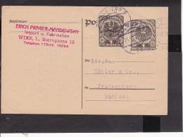 Ganzsache Österreich 1921 - Enteros Postales