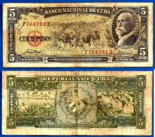 Cuba 5 Pesos 1958 Maximo Gomez kuba pesos Skrill Bitcoin OK