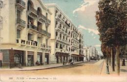 CPA Tunisie Tunis Avenue Jules-Ferry (animée) R1219 - Tunesien