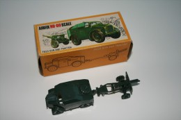 Airfix Field Gun And Tractor, Scale HO/OO, Vintage, Issued 1960 + Original Box - Figurines