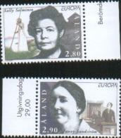 Aland 1996 Europa Donne Celebri (S.Salminen - F.Sundstrom)  2v  Complete Set ** MNH - Aland