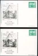 DDR PP16 C2/028 2 Privat-Postkarten FARBVARIANTEN Werft Schwerin 1978