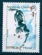 """YT 3865  """" Année Lunaire Chinoire Du Chien """" 2006 Neuf** - Unused Stamps"""