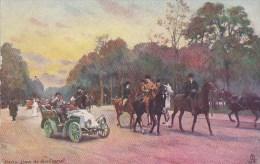 PARIS  XVI° CPA Illustrée Raphael TUCK  Promenade Au BOIS De BOULOGNE  AUTOMOBILE  Cavaliers à CHEVAL - Distretto: 16