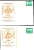 DDR PP16 D2/006 2 Privat-Postkarten DRUCKVERSCHIEBUNGEN Berlin 1979 - Privatpostkarten - Ungebraucht