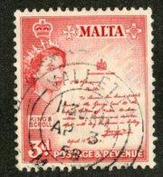 W1720  Malta 1956  Scott #252 (o)   Offers Welcome! - Malta