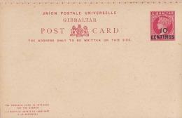 (3 Scan) Gibraltar Ganzsache 2x10 Centimos / Gibraltar Postal Stationary 2x10 Centimos / Gibraltar Entier Postal 2x10 C - Gibraltar