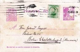 Spanien 1933? - Ganzsache Mit Zusatzfrankierung Auf Pk - 1931-50 Briefe U. Dokumente