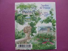 F4580 JARDINS DE FRANCE. SALON DU TIMBRE 2012 - Bloc De Notas & Hojas