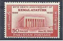 1963 PAKISTAN 199** Mausolée Atatürk - Pakistan