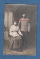 CPA Photo - Poilu Du 210e Régiment Et Sa Femme - Voir Uniforme - War 1914-18