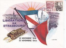 Douane, Libération De Strasbourg, Carte Maximum Yvert 1410 De 1964 - Red Cross