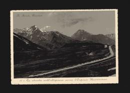 Valle D´Aosta - La Thuile - La Strada Sull´altipiano Verso L´Ospizio Mauriziano.  No Viaggiata - Italia