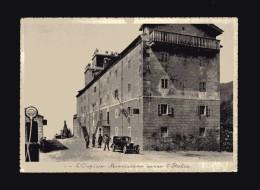 Valle D´Aosta -x- La Thuile -  L´Ospizio Mauriziano Verso L´Italia,Personaggi E  Macchina Balilla.  No Viaggiata - Italia