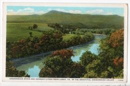 ÉTATS-UNIS . SHENANDOAH RIVER AND KENNEDY´S PEAK NEAR LURAY. VA. IN THE BEAUTIFUL SHENANDOAH VALLEY - Réf. N°3835 - - Etats-Unis