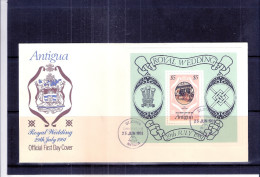 FDC Antigua With Bloc Royal Wedding 1981 (to See) - Antigua Et Barbuda (1981-...)
